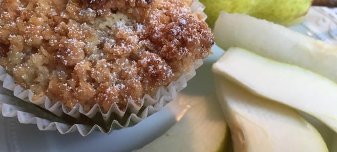 Fräulein Streusel Miss Streusel Backblog Berlin Birnenstreuselmuffins pear crumble muffins