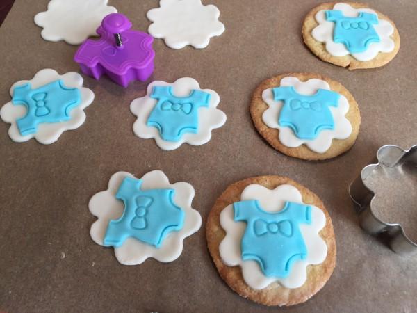Süße Babycookes für die Taufe von Fräulein Streusel